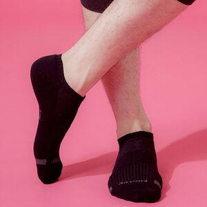 Footer單色運動逆氣流氣墊船短男襪