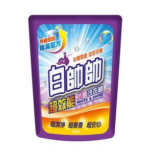 白帥帥超效能抗菌洗衣精補充包-1650g