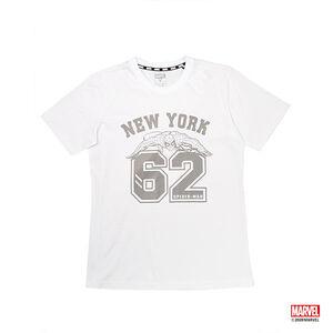 蜘蛛人數字印花款短袖T恤-白色