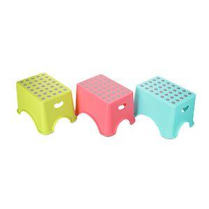 馬卡龍繽紛色中圓點止滑椅-顏色隨機出貨