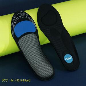 核心足弓機能鞋墊-黑色