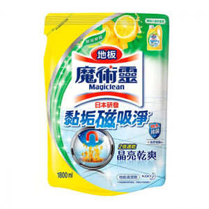 魔術靈 地板清潔劑補充包-鮮採檸檬-1800ml