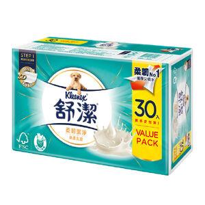 舒潔絲柔乳液抽取衛生紙超值包-100PCx30包