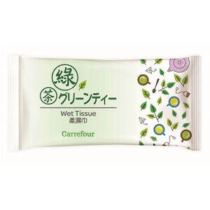 家樂福綠茶清香柔濕巾