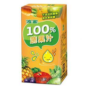 波蜜100蔬果汁TP160ml