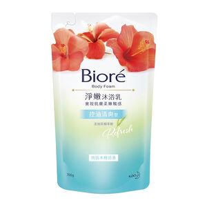 Biore淨嫩沐浴乳補充包-熱情木槿花香-700g