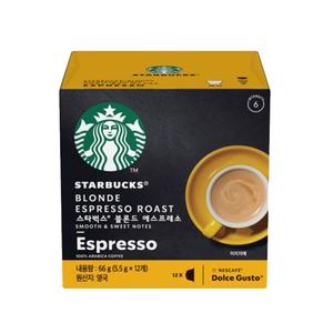 星巴克黃金烘焙義式濃縮咖啡膠囊(12顆)