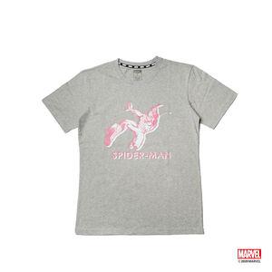 蜘蛛人疊影款短袖T恤-灰色