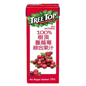 Tree To100 Cranberry Juice Aseptic 200m
