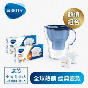 BRITA馬利拉濾水壺-(共7芯) 全效+去水垢
