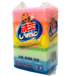 洗王彩虹海綿菜瓜布-5PC