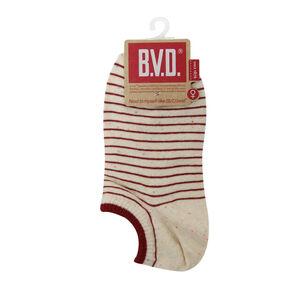 BVD舒適條紋女踝襪(彩麻花)