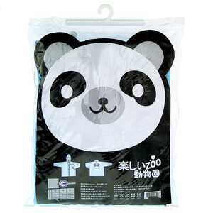 動物系列兒童雨衣-熊貓藍 M