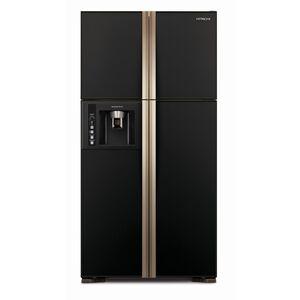 日立RG616四門對開琉璃變頻冰箱594L琉璃黑-GBK