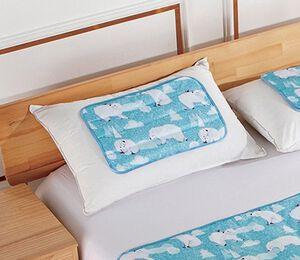 親子熊酷涼冷凝枕墊