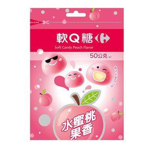 家樂福水蜜桃果香軟Q糖-50g