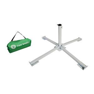 quadrangle iron umbrella stand