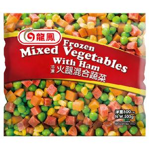 龍鳳冷凍蔬菜-火腿混蔬-500g