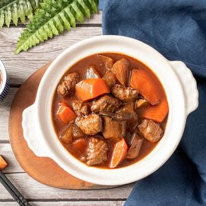 祥和蔬食 素杏鮑菇牛腩煲-400克(蛋奶素)