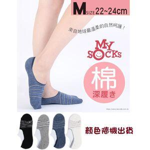 瑪榭棉質高腳背隱形襪