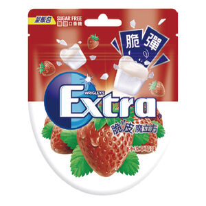 Extra脆皮魔立方無糖口香糖-草莓57.2g