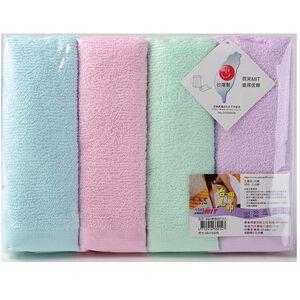 OO 素色毛巾4入-顏色隨機出貨