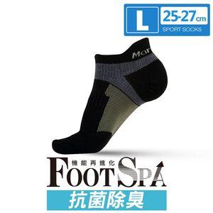 瑪榭經典抑菌護跟機能襪-L-黑灰