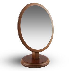 實木橢圓形桌上鏡