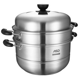 stainless steel double steamer 30cm
