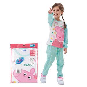 粉紅豬精梳純棉長袖套裝
