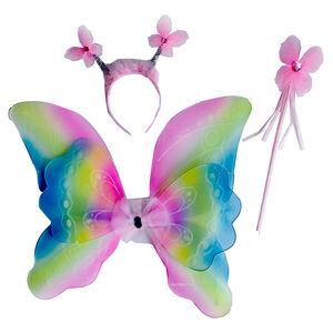 彩色蝴蝶翅膀三件組
