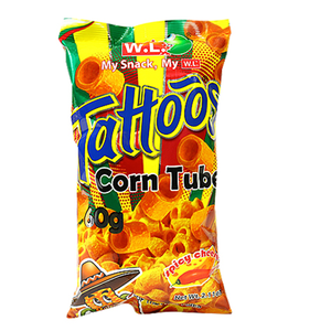 Tattoos Corn Tube Spicy Cheese