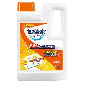 妙管家除臭地板清潔劑-清新橙香2000g