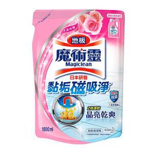魔術靈 地板清潔劑補充包-水漾玫瑰-1800ml