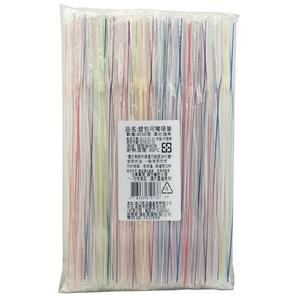 【免洗餐具】塑包可彎吸管