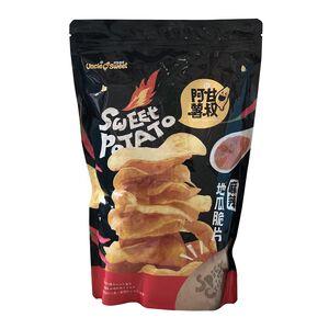 Spicy sweet potato crisps