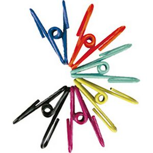 Multipurpose clothesline clip attached