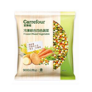家樂福冷凍綜合四色蔬菜-900g