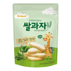 ibobomi嬰兒米餅(菠菜味)30g