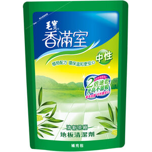 毛寶香滿室中性地板清潔劑補充包-清新茶樹1800g