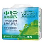 家樂福環保抽取式衛生紙 100抽X12包, , large