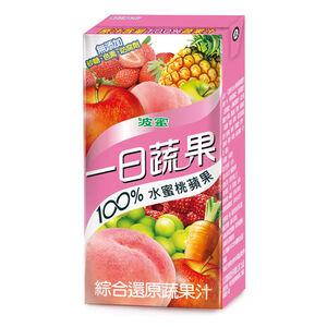 一日蔬果100水蜜桃蘋果蔬果汁160ml