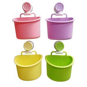 鈕扣強力衛浴架-小-顏色隨機出貨