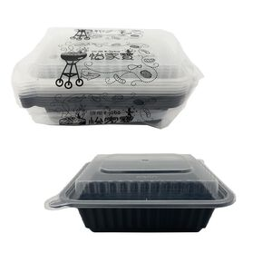 【免洗餐具】維基微波免洗保鮮盒方型360ml