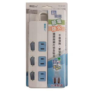 2P 3switch 3 outlet strip