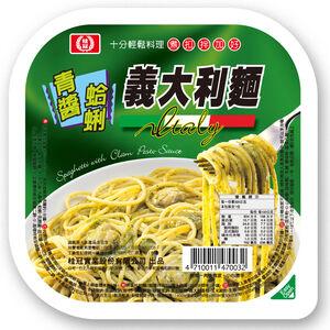 KG Spaghetti With Clam Pesto Sauce