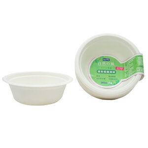 【免洗餐具】自然風環保植纖湯碗350ml