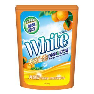 白帥帥抗菌洗衣精補充包-天然橘油-1650g