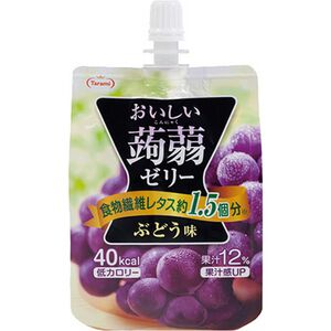 【限量】Tarami美味蒟蒻果凍-葡萄味-150g