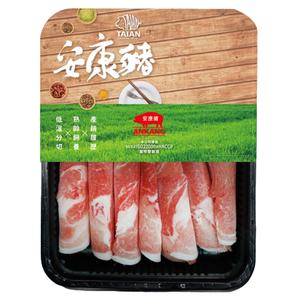 安康豬冷凍台灣梅花火鍋肉片(每盒約250克±10%)
